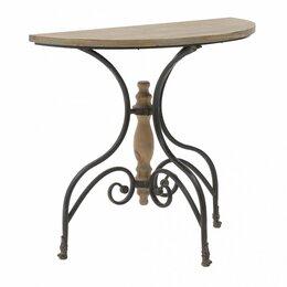 Столы и столики - Консоль кованая полукруглая черно-коричневая…, 0