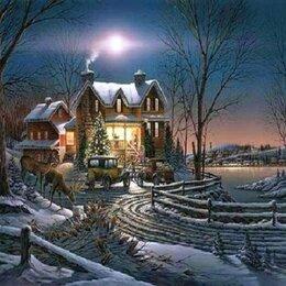 Раскраски и роспись - Картина по номерам на холсте -зимний вечер, 0