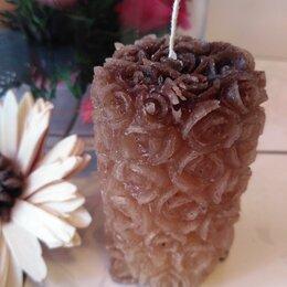 Декоративные свечи - Свеча Роза - Кофейная, 0