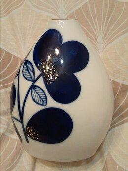 Вазы - Лфз ваза Синие цветы кобальт, 0
