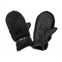 Перчатки и варежки - Рукавицы женские кожано-меховые, бобр, овчина, 0