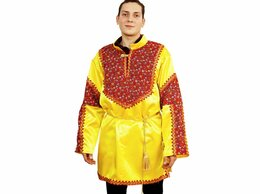Карнавальные и театральные костюмы - Карнавальная рубаха Русский Богатырь, цвет…, 0