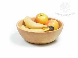Тарелки - Тарелка деревянная большая глубокая D24 H9, 0