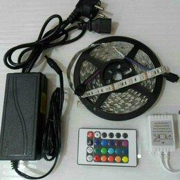 Светодиодные ленты - Светодиодная лента SMD 5050 RGB 60 led/м комплект, 0