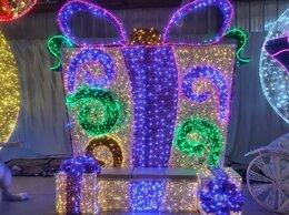 """Новогодний декор и аксессуары - Световая фотозона """"Подарок с бантом"""",цвет на выбор, 0"""