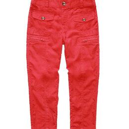 Брюки - Детские брюки из хлопка с молниями и клапанами, 0