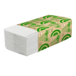 Туалетная бумага и полотенца - Полотенца бумажные Eco Focus, 1 слой 23х23, 250шт., 0