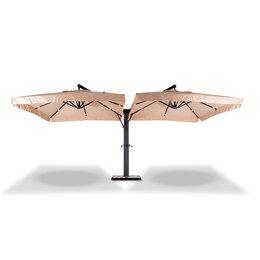 """Зонты от солнца - Зонт садовый, 2 купола на металлической опоре """"Рим"""", 0"""
