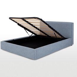 Кровати - Кровать юбтянутая голубая, 0