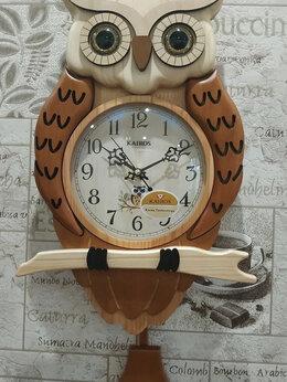 Часы настенные - Настенные часы с маятником Kairos KA 035 (Сова), 0