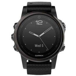 Умные часы и браслеты - Смарт Часы Garmin Fenix 5S Silver / Black Band, 0