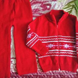 Комплекты - Вязанный костюм для девочки 98-104 см (2-4 года), 0