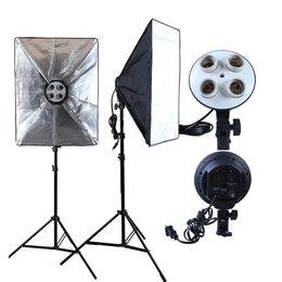 Осветительное оборудование - Набор Фототом 30557Fu-2 (осветитель 2шт., софтбокс 2шт., стойка 2шт.), 0