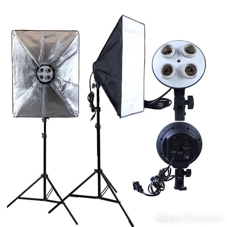 Набор Фототом 30557Fu-2 (осветитель 2шт., софтбокс 2шт., стойка 2шт.) по цене 6999₽ - Осветительное оборудование, фото 0