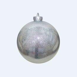 Новогодний декор и аксессуары - Шар декоративный 35 см, серебряный, 0