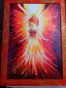 Картины, постеры, гобелены, панно - Картина с девушкой светящаяся Жар-птица (девушка…, 0
