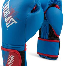 Боксерские перчатки - Перчатки боксёрские детские EVERLAST PROSPECT PU, P00001644, Синий, 4 унции, 0