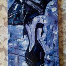 Картины, постеры, гобелены, панно - Картина маслом Незнакомка (девушка под зонтом) живопись мастихин, 0