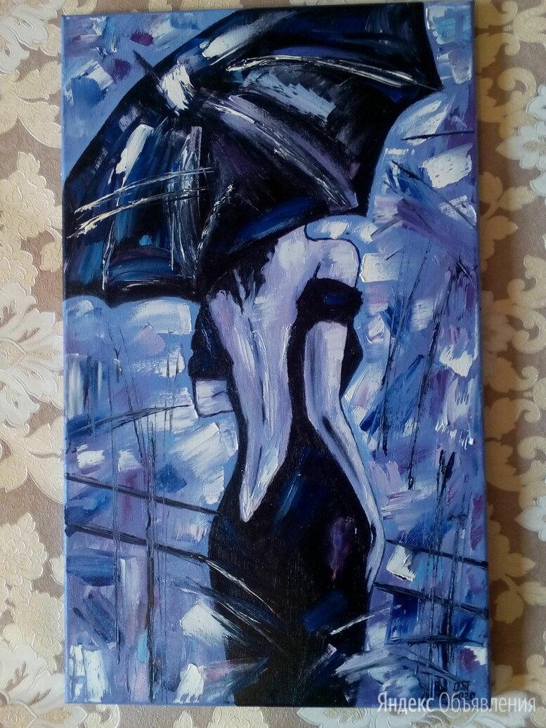 Картина маслом Незнакомка (девушка под зонтом) живопись мастихин по цене 8500₽ - Картины, постеры, гобелены, панно, фото 0