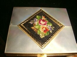 Сувениры - Пудреница бронза с перламутром конец 18 века, 0