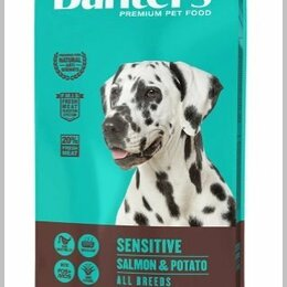 Корма  - Сухой корм для взрослых собак лосось с картофелем, Banters Sensitive, 15 кг., 0