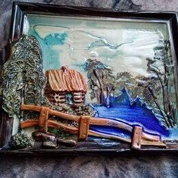 Картины, постеры, гобелены, панно - Картина на керамике объёмная, 0