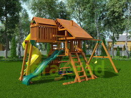 Игровые и спортивные комплексы и горки - Детская площадка IgraGrad Крепость Фани Deluxe 2, 0