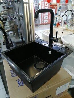 Смесители - Смеситель для кухни высокий, чёрного цвета, 0