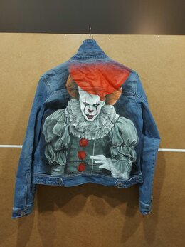 Куртки - Джинсовка с рисунком, 0