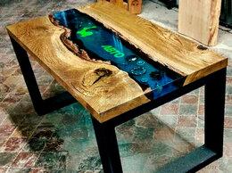 Столы и столики - Стол из слэба спила эпоксидной смолы лофт , 0