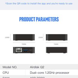 Сетевые накопители - Airdisk Q2 сетевое хранилище NAS новый, 0