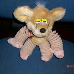 Мягкие игрушки - Мягкая игрушка мышонок на пружинах, 0
