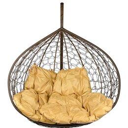 Подвесные кресла - Двойное подвесное кресло Gemini brown BS (БЕЗ…, 0