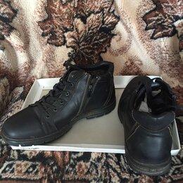 Ботинки - Ботинки чёрные на меху, 0