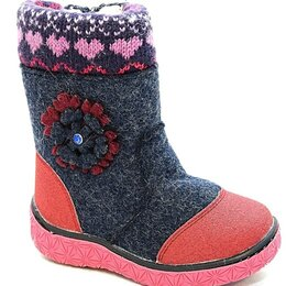 Валенки - Детские валенки зимние для девочек М-МИЧИ, цвет:…, 0