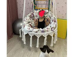 Подвесные кресла - Подвесное кресло - гамак - качели - макраме, 0