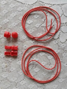 Стельки и шнурки - Шнурки эластичные с фиксатором, 0