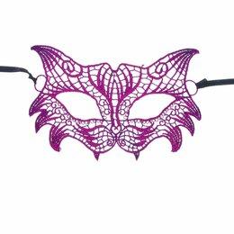Карнавальные и театральные костюмы - Карнавальная маска Кокетка, ажур, цвет фуксия, 0