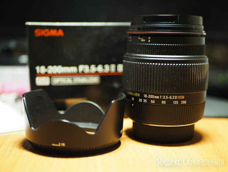 Sigma 18-200 nikon f по цене 9000₽ - Объективы, фото 0