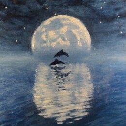 """Картины, постеры, гобелены, панно - """"Синева"""", картина маслом в багете, 0"""