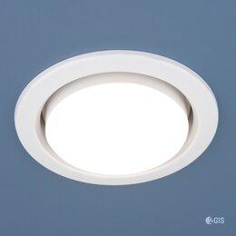 Встраиваемые светильники - Светильник встраиваемый GX53 белый, 0