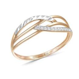 Кольца и перстни - Кольцо с 11 бриллиантами из красного золота, 0