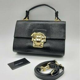 Сумки - Сумка Dolce Gabbana черная кожа женская новая, 0