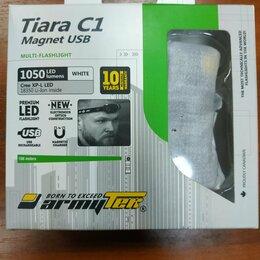 Фонари - Фонарь Armytek Tiara C1 USB XP-L (Белый свет) (Серебро), 0
