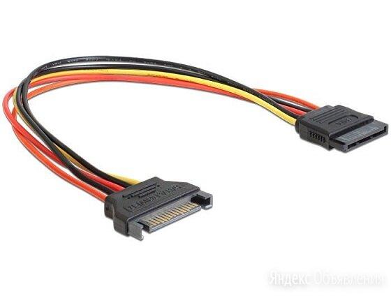 Удлинитель кабеля питания SATA , 15pin(M)/15pin(F) по цене 136₽ - Жёсткие диски и SSD, фото 0
