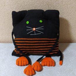 Декоративные подушки - Подушка вязаная кот, 0