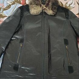 Куртки - Куртка кожаная на меху, 0