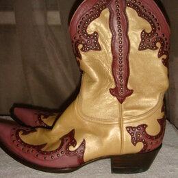 Сапоги - Сапоги женские казаки золотая кожа с сиреневым ф. Old Gringo, 0