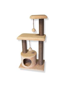 Когтеточки и комплексы  - Домик-Когтеточка для кошек «КРУИЗ» , 0