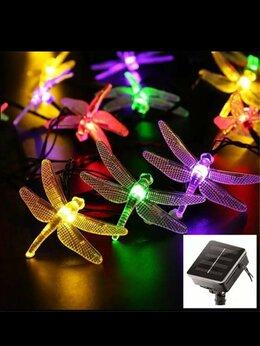 Интерьерная подсветка - Гирлянда на солнечной батарее стрекозы , 0